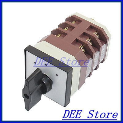 AC 380V 16A 12 Terminals 3 Positions Rotary Selector Cam Changeover Switch<br><br>Aliexpress