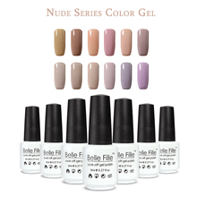 BELLE FILLE UV Gel Nail Polish lacquer Soak off Gel Professional Kit Coffee Brown Nude camel brown Color vernis semi permanent