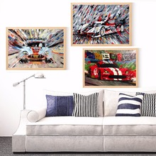 Race Car Abstract Artwork Canvas Art Print Painting Poster Wall Pictures For Living Room Home Decoration Bedroom Decor No Frame