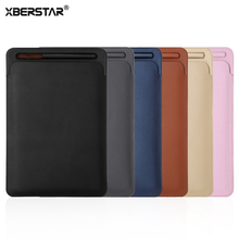 XBERSTAR Pouch for Apple Pencil for i Pad Pro 12.9 inch Case Pu Leather Protector Sleeve Cover Holder