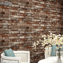 beibehang Chinese 3Dstereo simulation brick wallpaper living room bar restaurant do the old red brick brick waterproof wallpaper