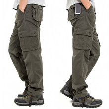 2017 Mens tactical War Game Cotton Cargo pants Male loose Casual Pants men trousers Army military Combat Pants Men
