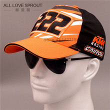 2016 New gorras moto gp motorcycle auto racing team 222 KTM hat cap orange black baseball cap hat  Wholesale Factory Outlet