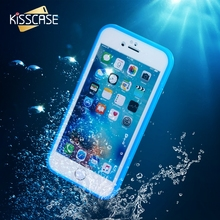 KISSCASE Ultra Thin Waterproof Case for iPhone 6 6s Transparent Soft TPU Diving Swimming Cases for iPhone 6 6s 7 8 Plus 5 5s se(China)