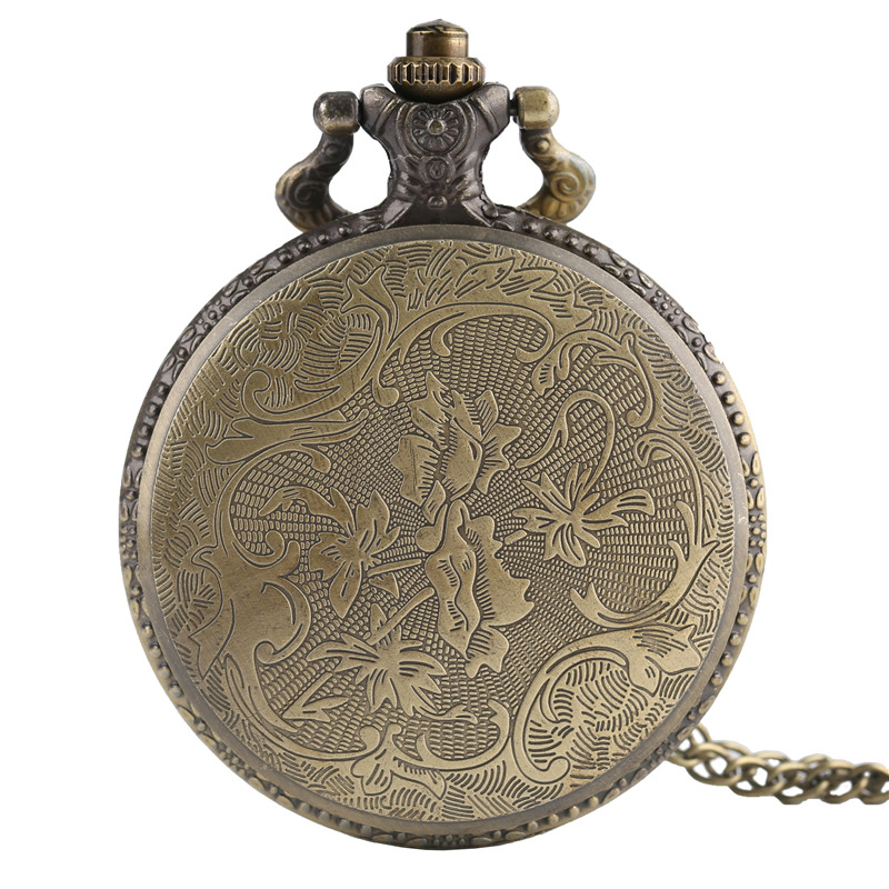 Punk Monster Pocket Watch Solid Skull Copper Sculpture Pendant Necklace Special Halloween Clock Unique Gifts for Boys Girls Teen (2)