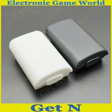 30pcs/lot Plastic Battery Shield Cover Case for Xbox360 Wireless Controller Black White Free Shipping