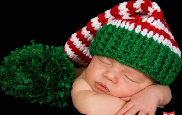 60pcslot 100 Cottn Baby Pixie Elf Hat Christmas Designs In Green