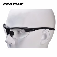Protear Safety Glasses Protective Eyewear Clear Anti Fog Scratch Resistant Lens Military Ballistic Standard UV 380 Protection(China)
