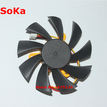 Diameter 85mm 12V 0.2A 43mm X 3 computer VGA Cooler Fan for radeon hd 4890 Graphics Video Card Cooling