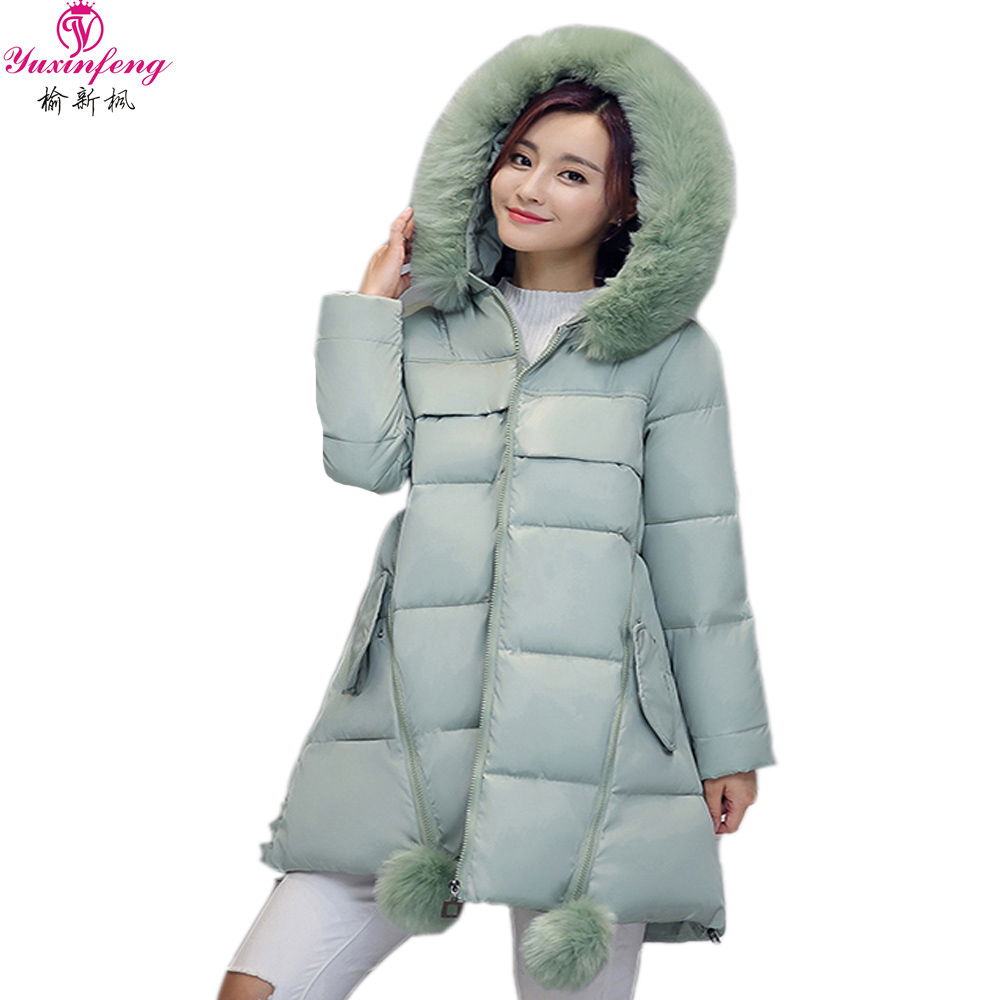 S-3XL Large Size Women Winter Jacket Thick Hooded Faux Fur Collar Parka Female Loose Pregnant Womens Down Coats Cotton PaddedОдежда и ак�е��уары<br><br><br>Aliexpress