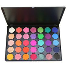 2017 Professional New 35 Color Eyeshadow Palette Shimmer Matte Beauty Make up Pallete Set Smoky Eye shadow Makeup Kit E(China)