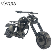 New Year Gift 16.5*9cm Super Cool Metal Motorcycle Model Black Coating Handcraft For Home Office Ornament
