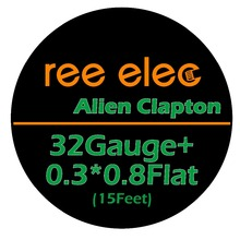 5m/roll 32G+0.3*0.8 Flat Alien Clapton Wire for RDA RBA Rebuildable Atomizer Heating Wires Coil Tool Alien Clapton Heating Wire