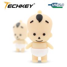 Cartoon lovely boy baby kid Shape USB Memory Flash Drive 2GB 4GB 8GB 16GB 32GB thumb stick cartoon pendrive flash disk u disk(China)
