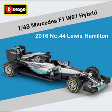 1/43 scale 2016 Mercedes AMG Petronas F1 w05 w07 hybird No.44 Hamilton Race diecast models F1 cars collection auto toys for kids