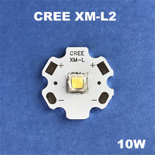 5pcs Original CREE XML2 T6 U2 10w high power led DIY flashlight outdoor lighting to shoot the light(China)