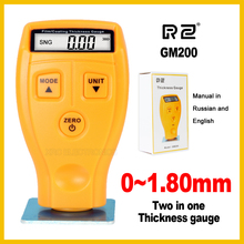 RZ Digital Automotive Car Paint Thickness Gauge of and Varnish Film Coating for Cars Meter GM200 1.8mm 71mil Fe NFe 2 in 1(China)