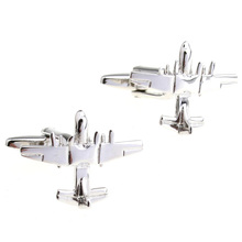 Cufflinks Retail Wwii light bomber silver style cufflinks 156135 free shipping+free gift box