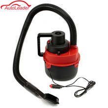 90W DC 12V Portable Car Wet And Dry Canister Outdoor Carpet Car Boat Mini Vacuum Cleaner Air Inflating Pump Red