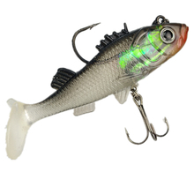 Free shipping Paillette Fishing Lure bass 7.6cm Artificial Soft bait Carp Crankbait with Treble Tackle Hooks Fishing accessories
