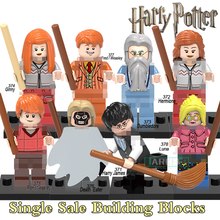 Harry Potter Professor Dumbledore Hermione Ron Fred George Death Eater Assemble Building Blocks diy figures Bricks Kids Toys(China)