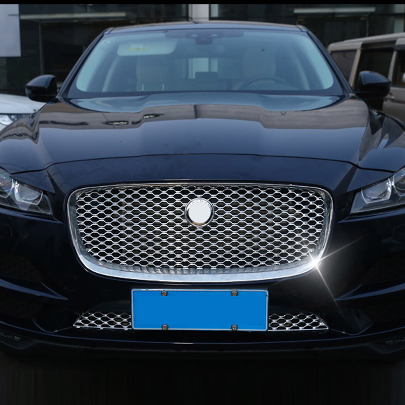 For-Jaguar-F-Pace-F-Pace-X761-2016-2017-Car-styling-ABS-Front-Grill-Cover-Trim