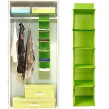 5 Cell Hanging Box Underwear Sorting Clothing Shoe Jean Storage Mails Door Wall Closet Organizer Closet Bag