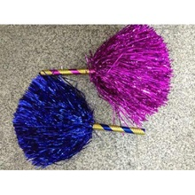 Cheerleading Pom Poms Cheerleader Pompons Dance Sport Competition Flower Ball Colorful Stick,30g,15-45cm,1pair(2pcs/lot),7colors