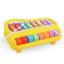 26*20*10cm Big Music Instrument Drag Knock Piano Small Infant Baby Musical Pull Octave Toddler Learning Education Musical Toy