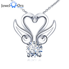 Fashion Swan Accessories Cubic Zirconia Pendants Necklaces For Women Party Jewelry New Cheap Gifts (JewelOra NE101208)