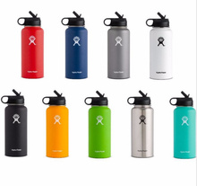 Hot!!!Hydro Flask 12oz/16oz/18oz/32oz/40oz64oz Vacuum Insulated Stainless Steel Water Bottle Wide Mouth(China)