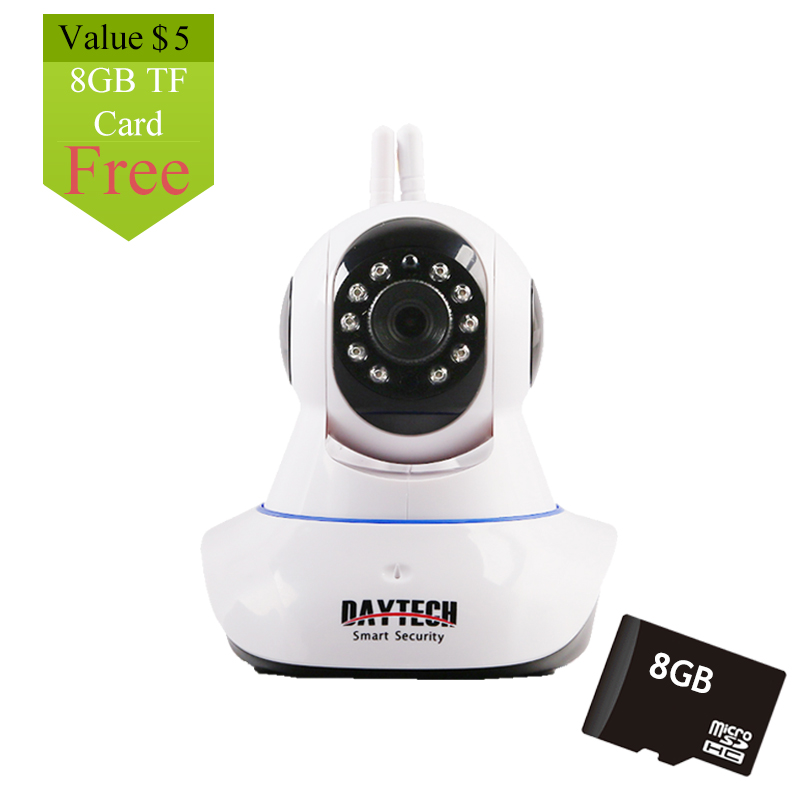 Daytech IP Camera Wireless Home Security Camera WiFi Network PT Two Way Audio IR Cut  HD 960P CCTV Night Vision Free 8G TF  Card<br>