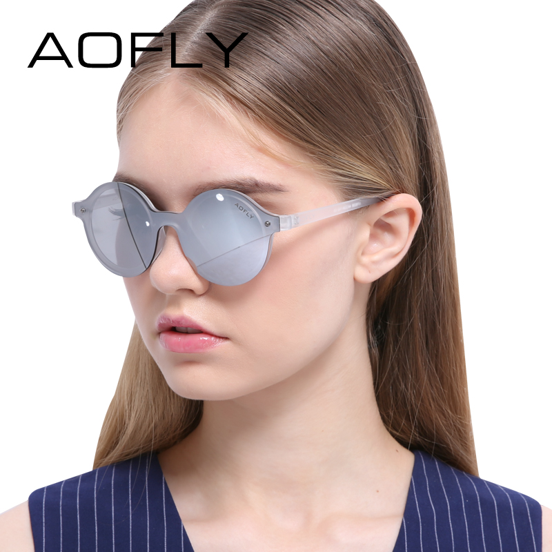 AOFLY Fashion Round Sunglasses Original Brand Women Sunglasses Classic Retro Shades Brand Design Coating Mirror Glasses UV400<br><br>Aliexpress