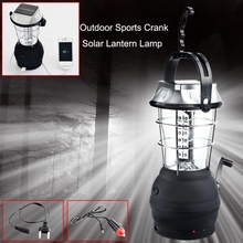 Super Bright Lightweight 36 LED Camping Lantern Outdoor Portable Lights solar rechargeable emergency light Waterproof Tent Lamp(China)