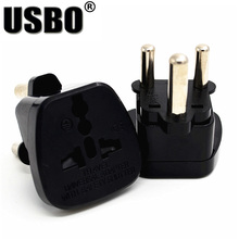Black 10A 250V CE certified ABS material connector AU UK EU US to South Africa travel plug adaptor with security door