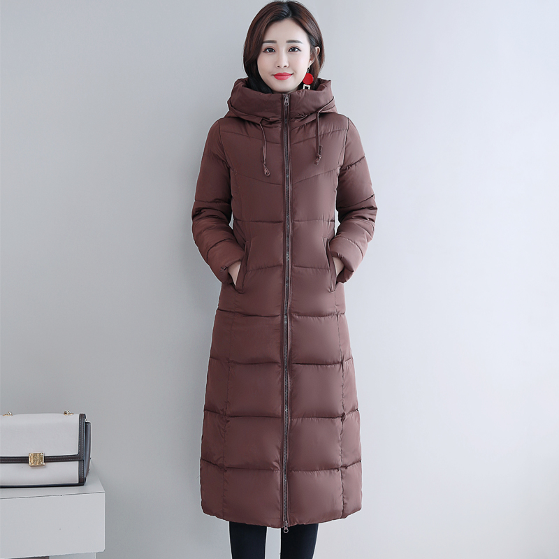 Plus Size 4XL 5XL 6XL womens Winter Jackets Hooded Stand Collar Cotton Padded Female Coat Winter Women Long Parka Warm Thicken 28