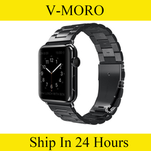V-MORO Stainless Steel Band Apple Watch Strap Link Bracelet 38mm 42mm Smart Metal iWatch - Shenzhen Store store