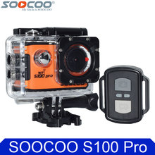 "100% Original SOOCOO S100 Pro 4K Wifi Action Camera 2.0"" Touch Screen Voice Control Remote Gyro Waterproof 30m Sport DV Car DVR(China)"