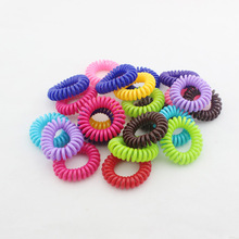 10 PCS/lot New Arrival Cute Candy Color Girls Elastic Hair Ties Ropes Bands Telephone Line Ponytail Holder for Women Hair Band