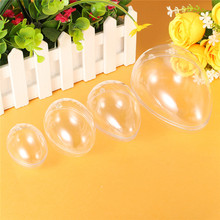 5Pcs DIY Bath Bomb Mold Plastic Clear Mould Reusable Eggs Shape Crafting Home Hotel Decor For Christmas Gift Bath Care Tool(China)