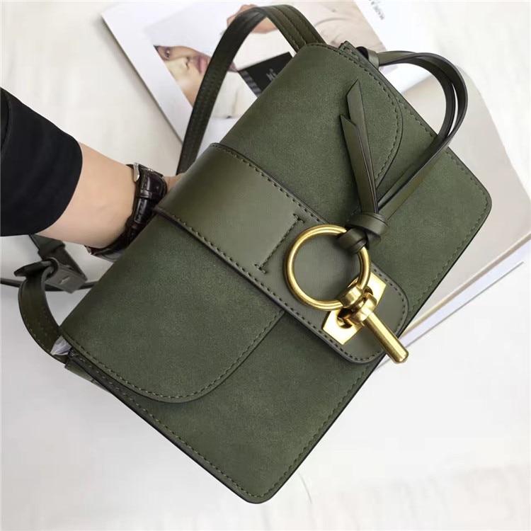 Luxury Brand pu Leather messenger bag Women high quality Handbag Shoulder Bag Famous Designer Crossbody Bags with gold lock<br>