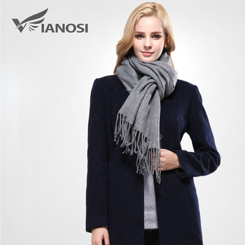 [Vianosi] nova marca mulheres inverno cachecol cachecol feminino cachecol sólida de algodão de melhor qualidade estúdios borlas mulheres wraps va090