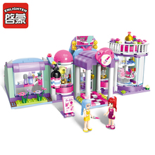 Enlighten Building Block Girls Friends shirley's Beauty SPA Shop 3 Figures 485pcs Educational Bricks Toy For Girl Gift