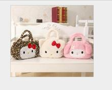 Hello Kitty Handbag Cute Cartoon Girls Plush Bag Single Shoulder Kawaii Anime Casual Shopper Tote Women Handbag Shoulder Bag