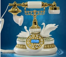 Fashion antique telephone fashion phone fly wing to wing/Blue Backlight/Hands Free/Caller ID(China)