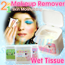 BB COLORS deep cleansing makeup remover wet tissue cotton Collagen eye lip apple moisturizing wipe soft demaquilante 100pcs/box