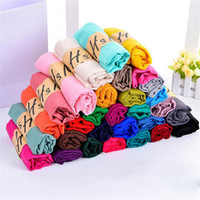2017 Women Cotton Linen Solid Scarf Muslim Muffler Casual Long Plain Scarves Shawl Stole Candy Colors 65*180cm  Soft Shawl Wrap