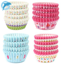 LINSBAYWU 100Pc Soft Round cupcake liner baking cup cupcake paper muffin cases Cake box Cup tray cake mold decorating tools