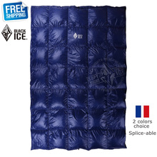 Black Ice Splicing Blue/Red Ultra Light Goose Down Spring/Summer/Autumn Quilt/Sleeping Bag