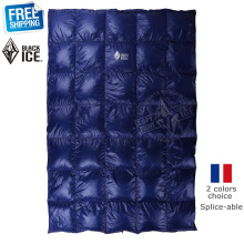 Black Ice Splicing Blue/Red Ultra Light Goose Down Spring/Summer/Autumn Quilt/Sleeping Bag(China)